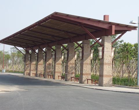 佛山市千灯湖公交站台工程案例