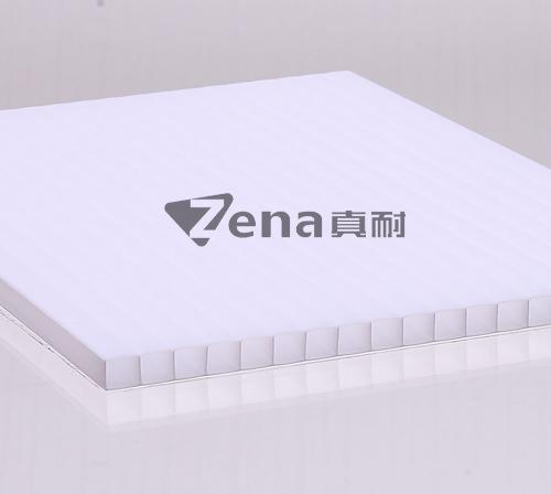 瓷白二层阳光板