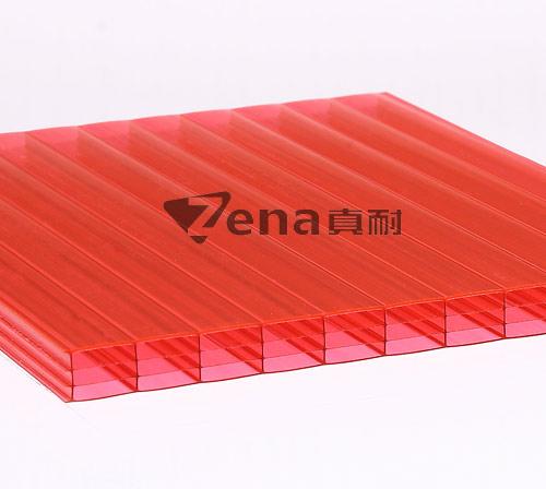 中国红四层阳光板